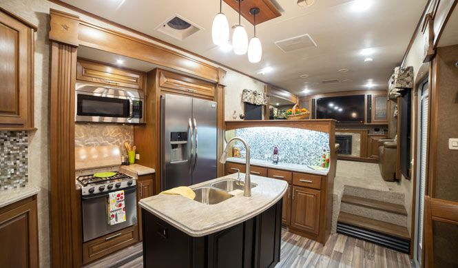 Front Living Room 5th Wheel Open Range 3x 377flr Fifth Wheel For