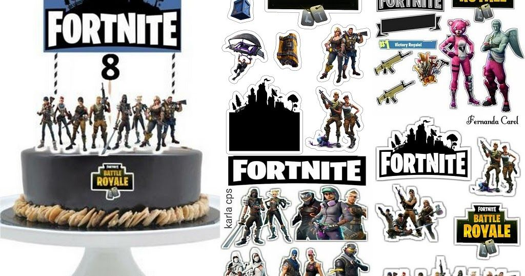 Funy Fortnite Free Printable Cake Toppers Here You Have Some Free Printable Cake Toppers For Your Fortn Free Birthday Stuff Cake Toppers Party Printables Free