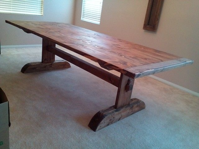 Trestle Dinning Table Made From 2x8 From Home Depot My Projects