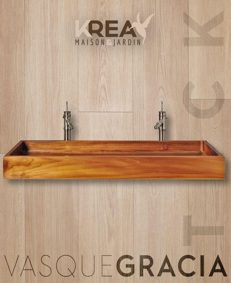 Vasque A Poser En Teck Gracia Dimensions 90 X 40 X 15 Cm Et 120 X 40 X 15 Cm Salledebain Interieur Decoration Salle De Bain Meubles En Teck Salle De Bain