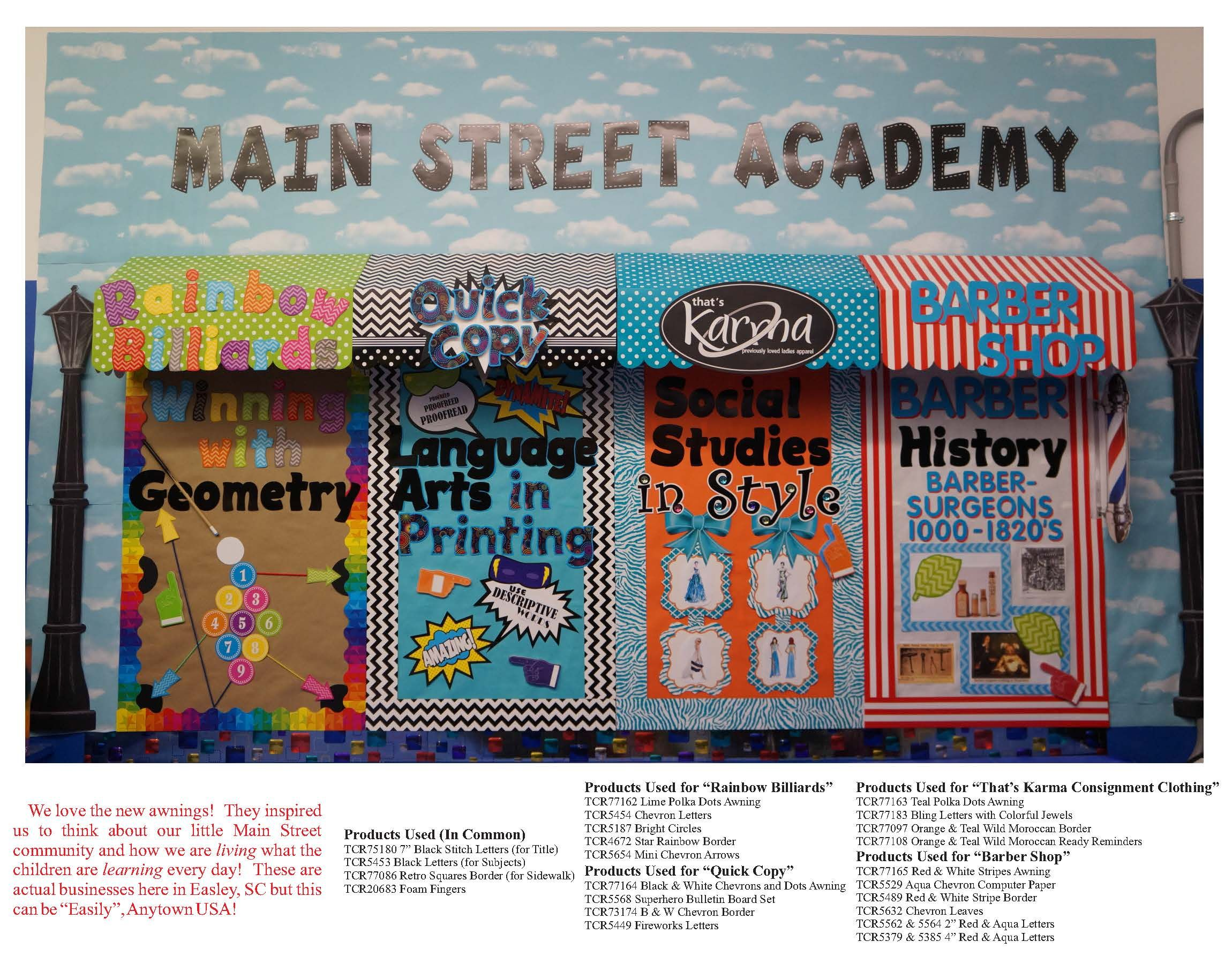What A Great Bulletin Board Idea Using Classroom Awnings