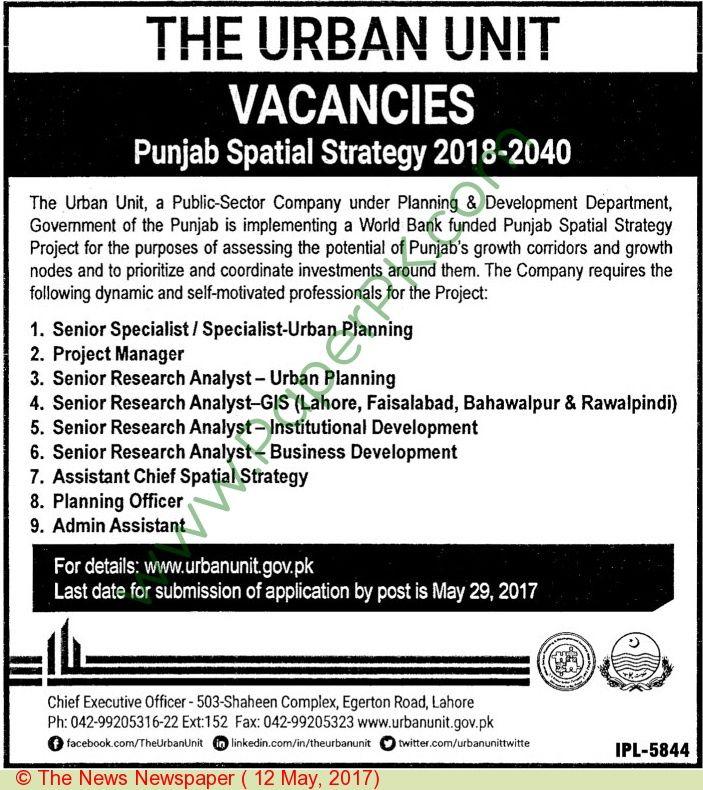The Urban Unit Lahore Jobs Jobs In Pakistan Pinterest Pakistan