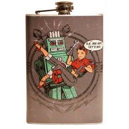 Smoking Robot Flask