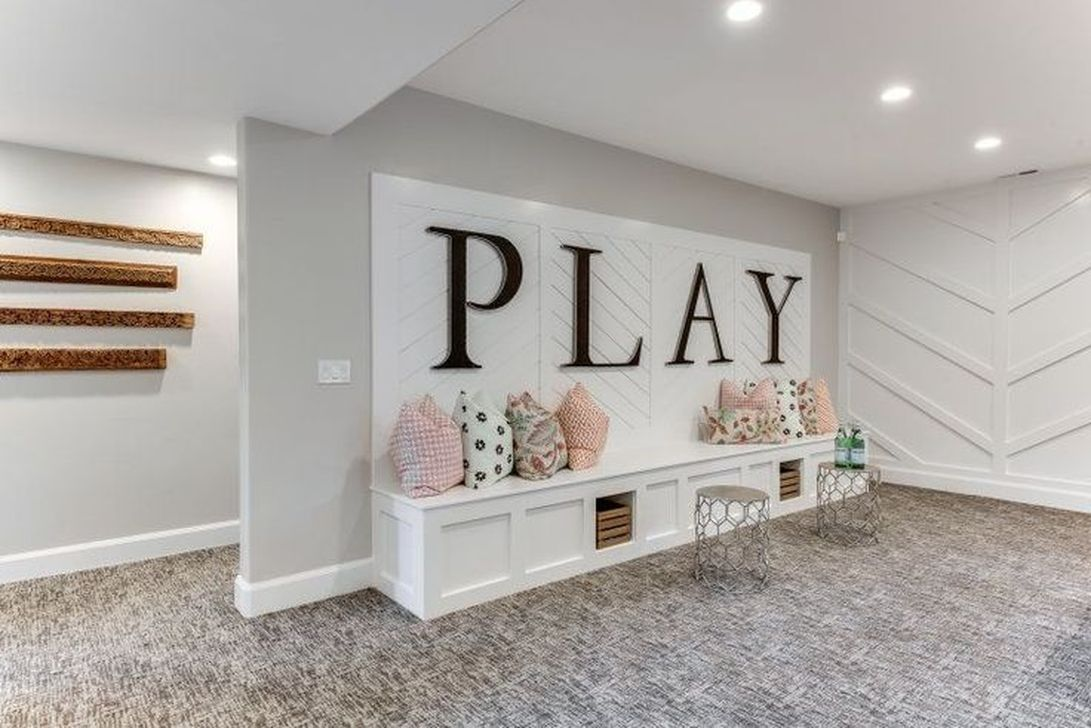 Nice 38 Smart Basement Playroom Decorating Ideas Home Decor Playroom Decor Toy Rooms