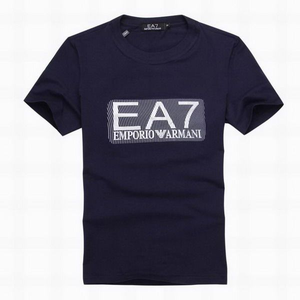 ralph lauren polo outlet online EA7 Emporio Armani Logo Short Sleeve Men's  T-Shirt Navy