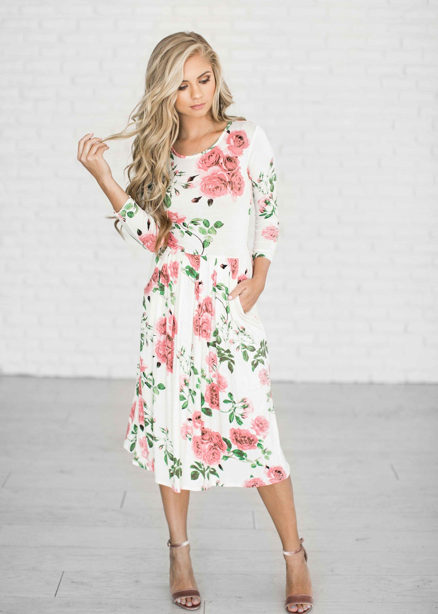 Floral Sky Maxi Dress   Sunday dress, Spring dresses and Fashion ...