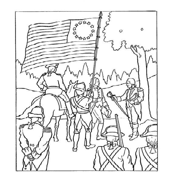 Revolutionary War Coloring Pages Flag Coloring Pages Coloring