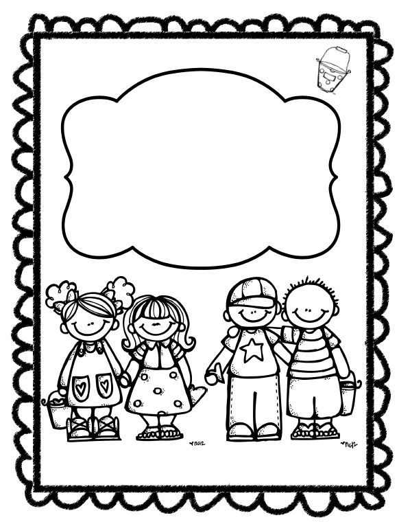 coloring border pages for kids | Pin by Elena Derizioti on CLIP ART (LITTLE PEOPLE ...