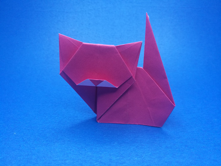 Origami cat step by step instructions' Origami cat
