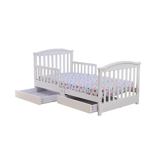 dream on me mission style toddler bed with storage drawer white dream on me toys r us. Black Bedroom Furniture Sets. Home Design Ideas