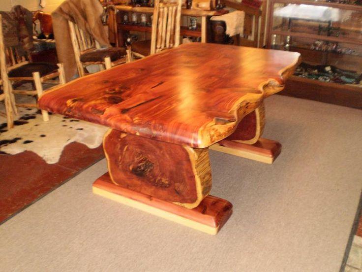 Homemade Cedar Tables Big Cedar Furniture Garden