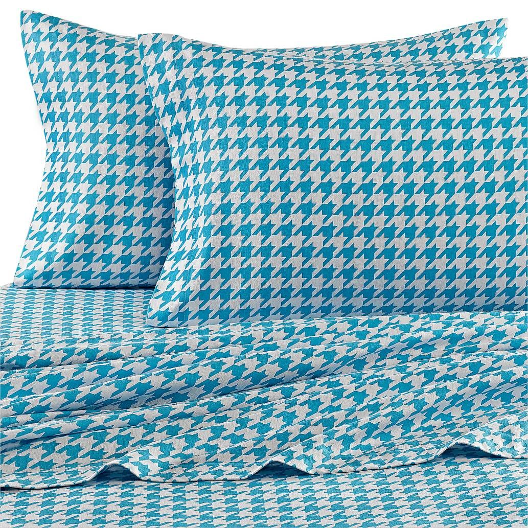 Bed Bath And Beyond Flannel Sheets Cool Product Image For Teen Vogue® Houndstooth Flannel Sheet Set In Decorating Design