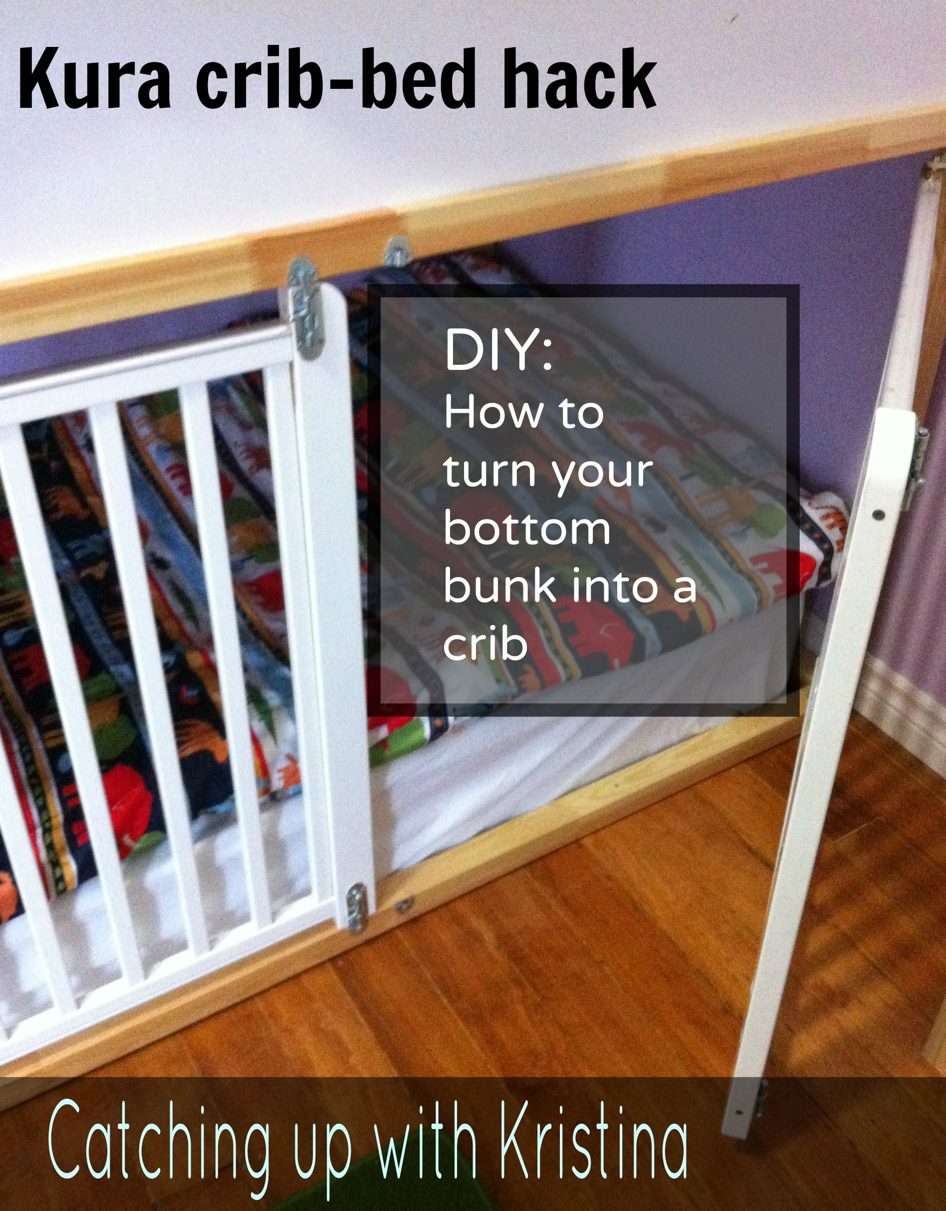 How To Convert The Lower Portion Of A Kura Bunk Bed Into A