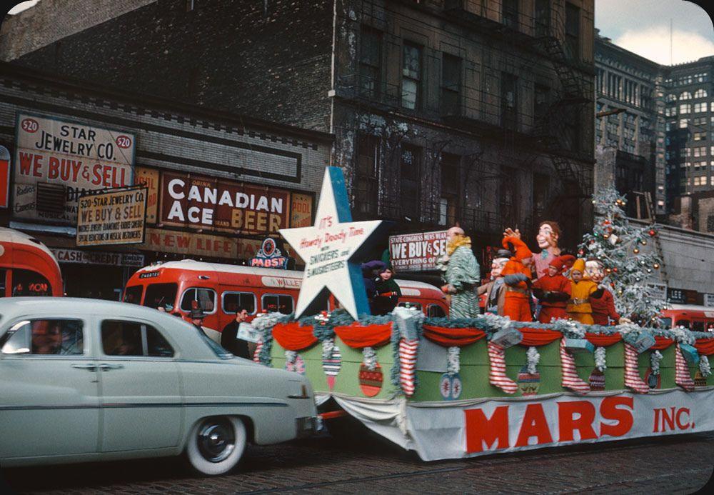 Chicago Christmas Parade 1951 Vintage christmas photos