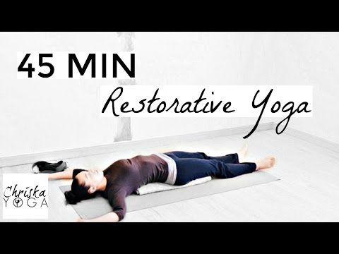 45 min restorative yoga  full length yoga class  calming