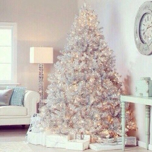 White Christmas tree Christmas Trees decorated Pinterest