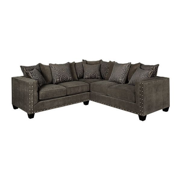 Cindy Crawford Home Sidney Road Gray 2 Pc Sectional ($30) ❤ Liked On  Polyvore