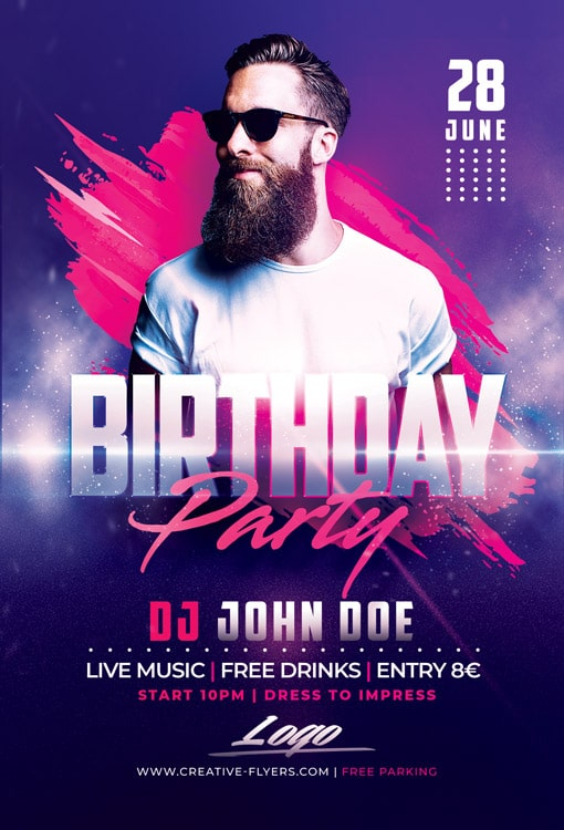 Download Psd Club Birthday Flyer Templates Creativeflyers Birthday Flyer Graphic Design Flyer Flyer Design Inspiration