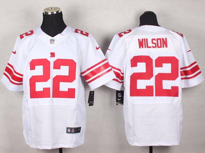 mens nfl new york giants 22 wilson white elite jersey
