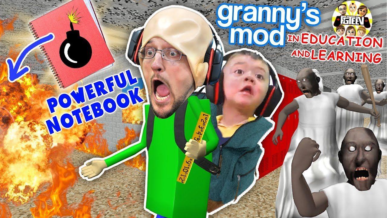 Baldi S Powerful Notebook Granny Takes Over The School Fgteev