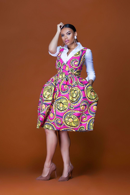 african print senegal midi dress  african fashion
