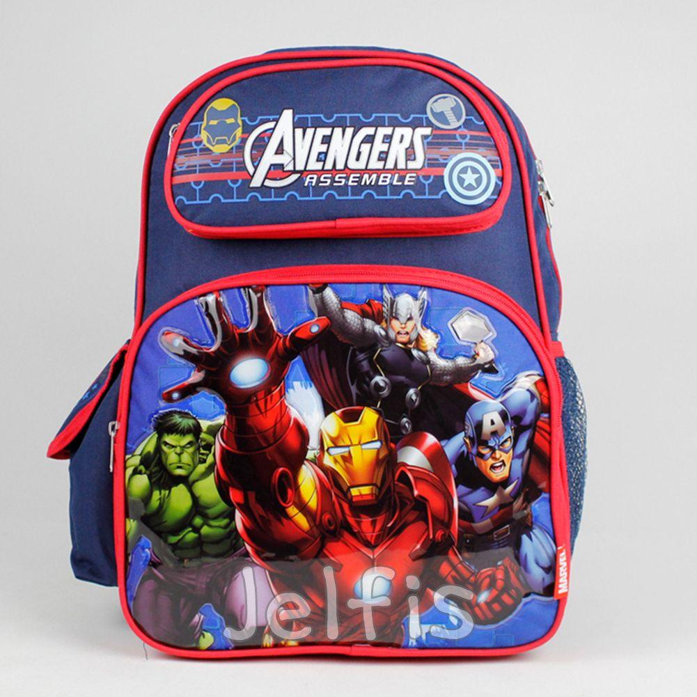 Jelfis.com - Marvel Avengers Assemble 16' Backpack - Heroes Fight Large Boys School Book Bag, $18.99 (http://www.jelfis.com/marvel-avengers-assemble-16-backpack-heroes-fight-large-boys-school-book-bag/)