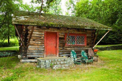Updated Rustic Log Cabin