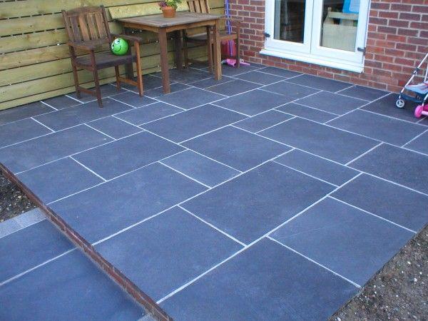 black limestone patio google search garden and patio. Black Bedroom Furniture Sets. Home Design Ideas