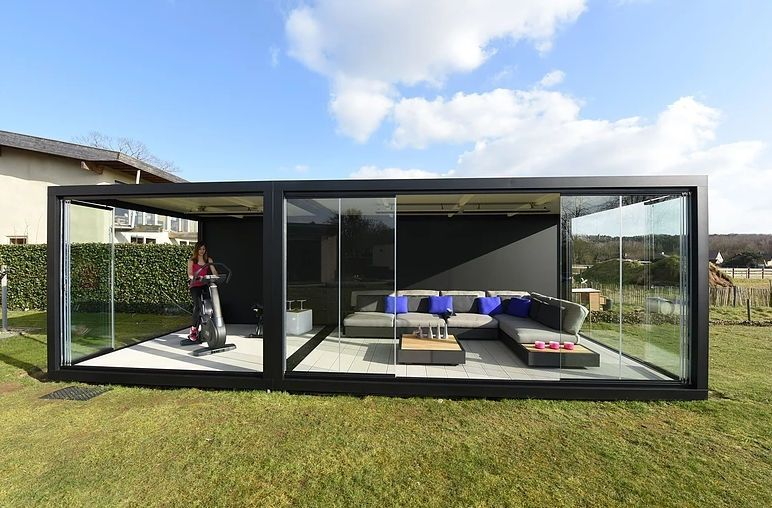 glas gartenhaus modern privatgebrauch lummen liviq