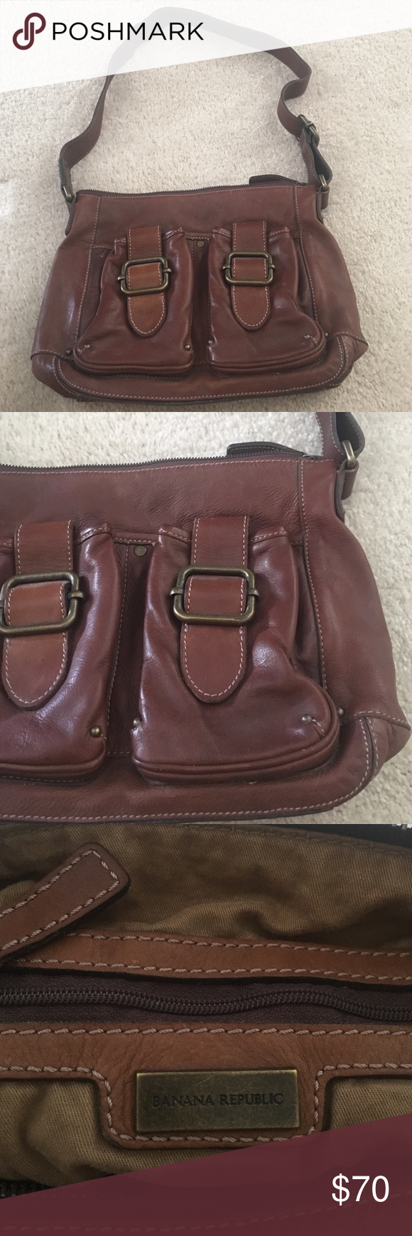 Banana republic leather purse Perfect condition no stains or scratches! Bags Satchels