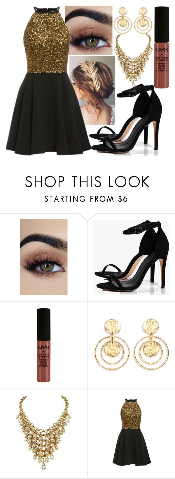 """""""SWK #15"""" by mrspotterlovesbutterbeer on Polyvore featuring Boohoo, NYX and Kenneth Jay Lane"""