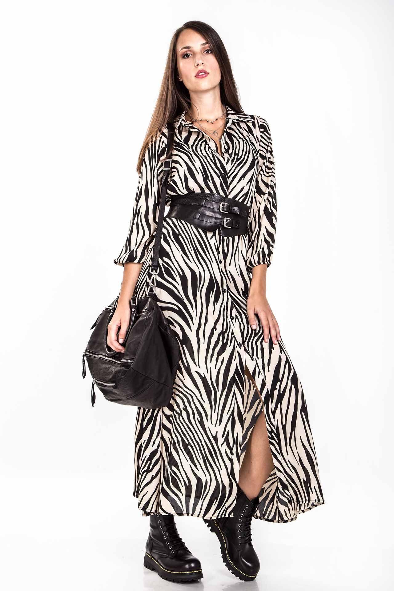 Abito Lungo - zebra bianco  def02f88f64