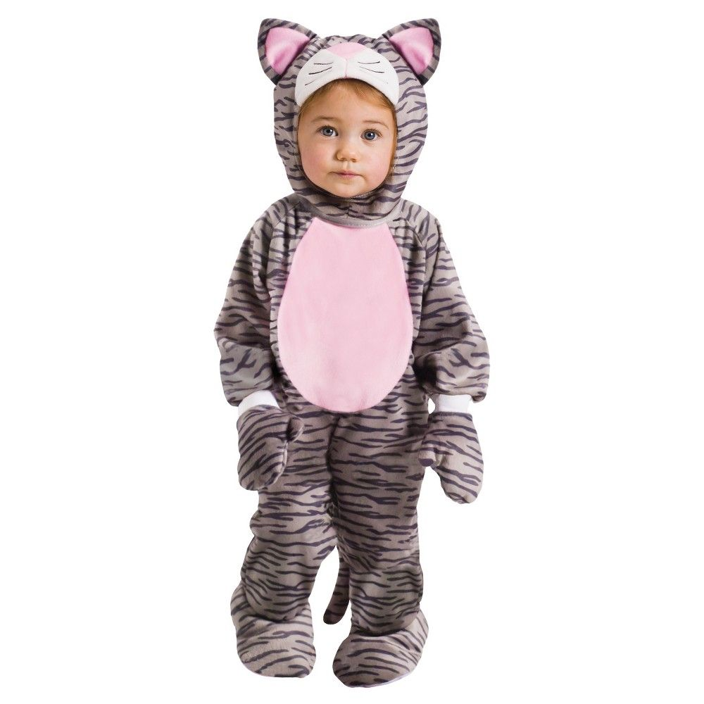 Baby Gray Stripe Kitten Halloween Costume 6 12m Kitten Costumes Halloween Costumes For Kids Kitten Halloween Costumes