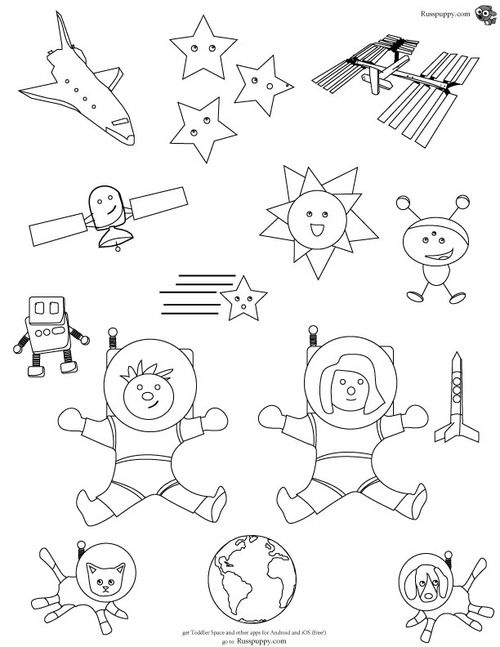 free toddler space coloring page heres another free coloring page from russpuppy this one uses some art from the free toddler space android and ios app - Space Coloring Pages Toddlers