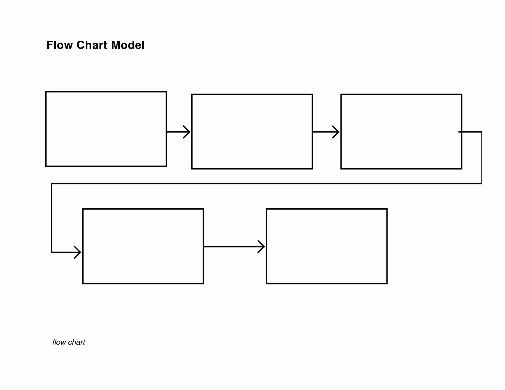 Elegant Blank Flow Chart Template In