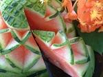 garnish#fruit carving work