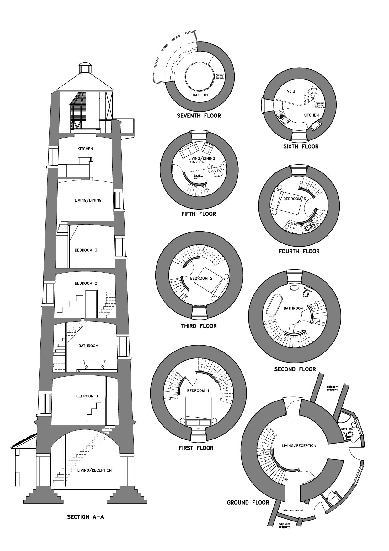 Burnhamlighthouse Section Floor Plan Design Country Floor Plans House Plans With Photos