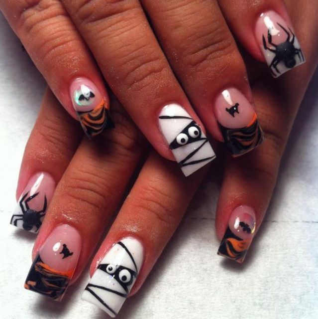 Acrylic nails by Jeannie | Holiday acrylic nails ...