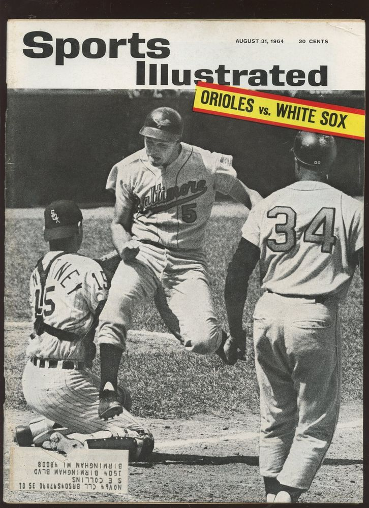 Details About Aug 31 1964 Sports Illustrated Complete Magazine Brooks Robinson Front Cover Ex Sports Illustrated Covers Sports Illustrated Sports Magazine Covers