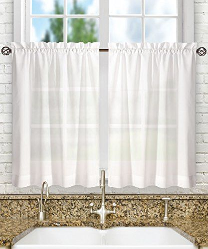Ellis Curtain Stacey 56 By 36 Inch Tailored Tier Pair Curtains