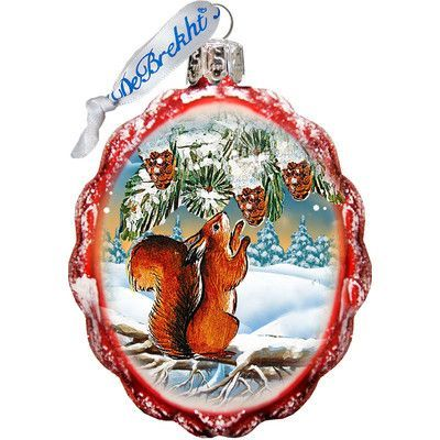 The Holiday Aisle Squirrel Glass Ornament Glass Ornaments Christmas Ornaments Glass Christmas Ornaments