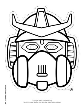 The Blank Robot Mask Has Grate Ears A Samurai Helmet And Angular
