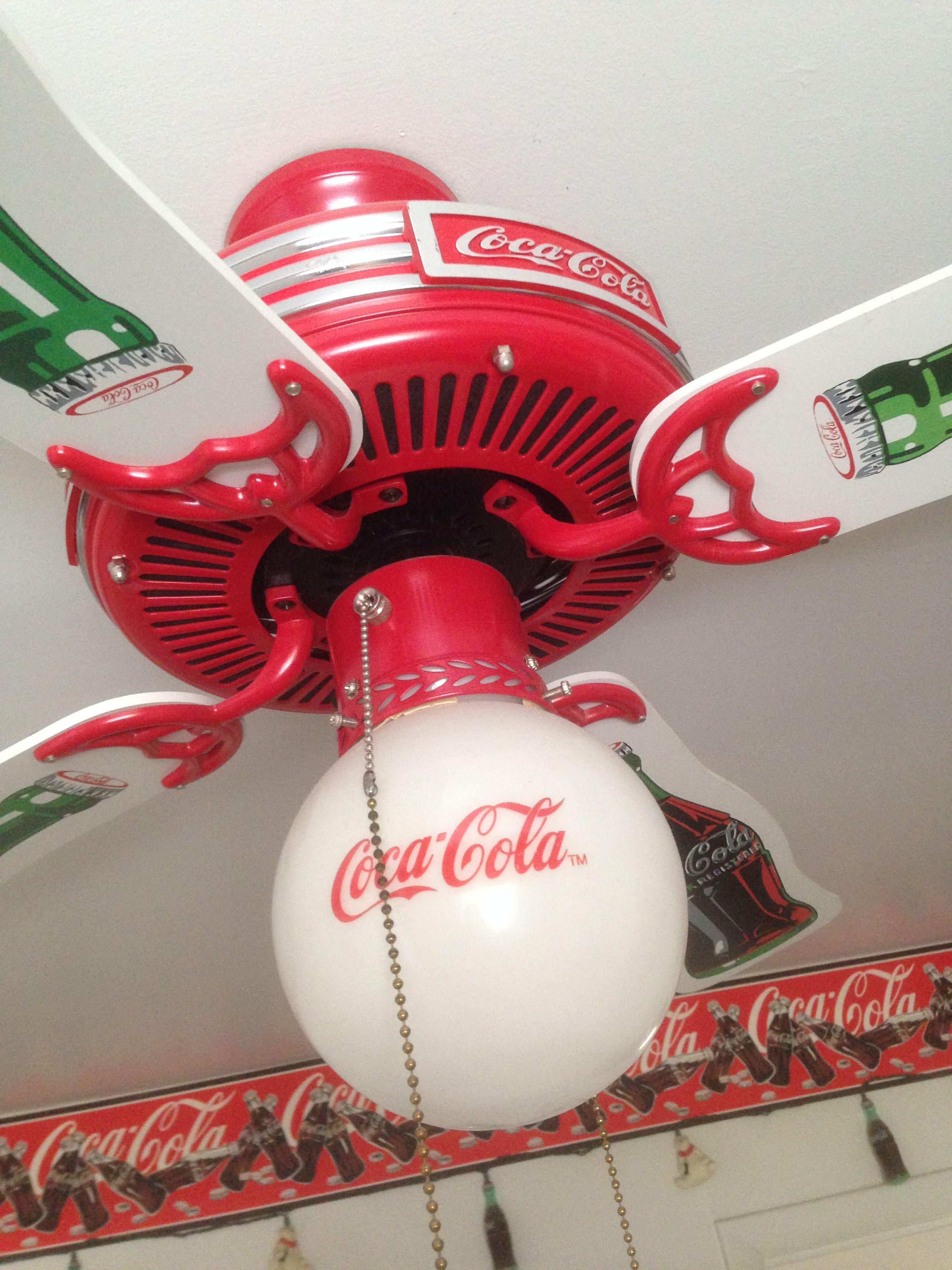 Coca cola lighted ceiling fan orins attic estate sale coca cola coca cola lighted ceiling fan orins attic estate sale aloadofball Images