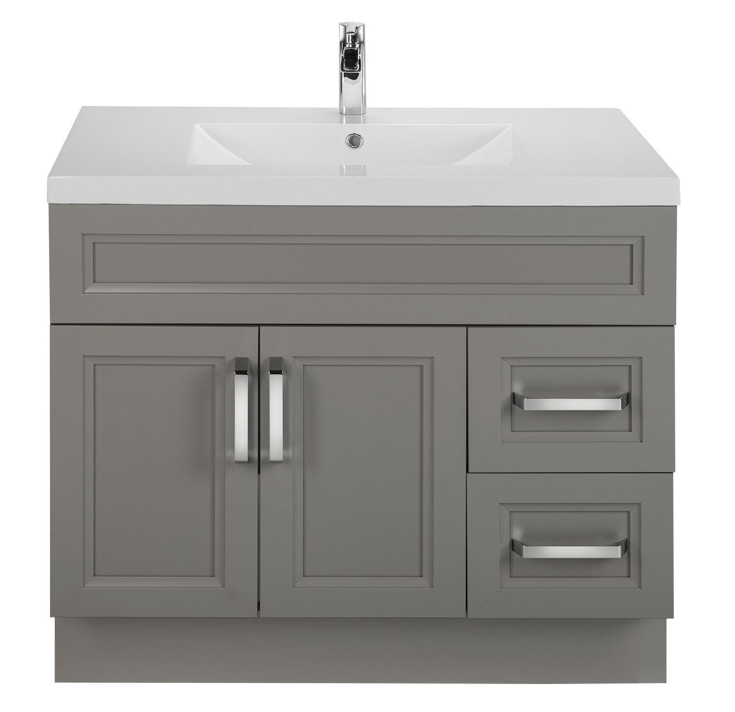 Daybreak 36 Contemporary Vanity 2 Door 2 Drawers Right Hand With