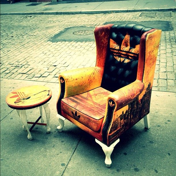 """Take a seat will you?  @adidas"""