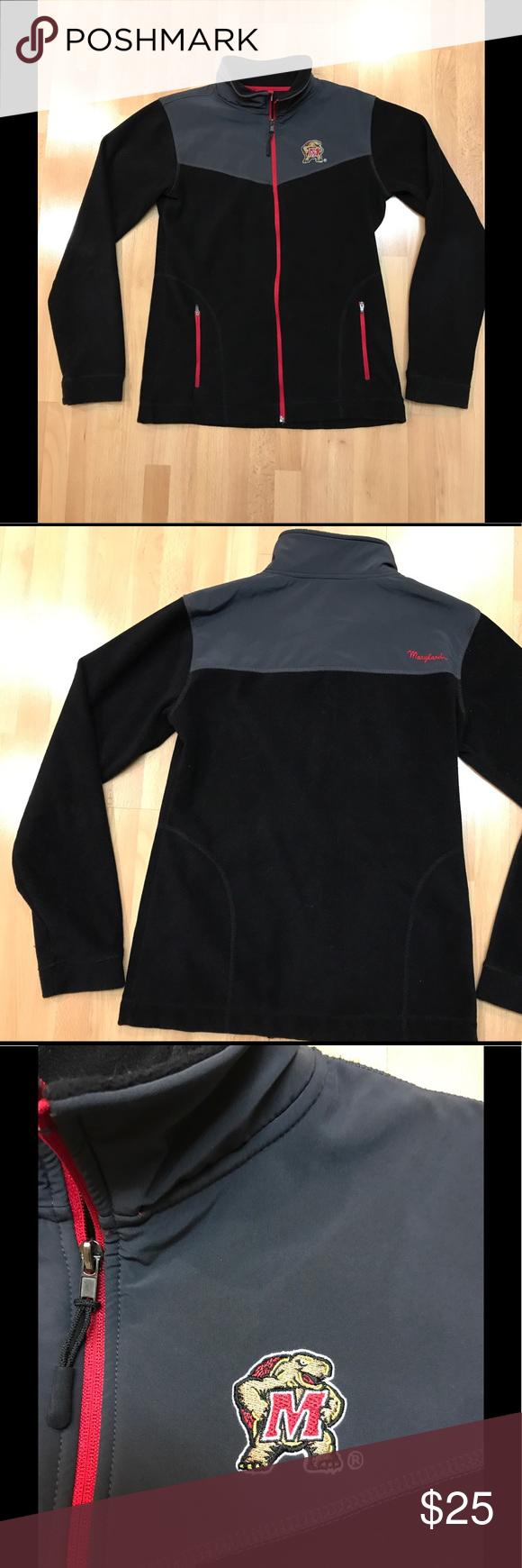 University of maryland fleece jacket euc university of maryland