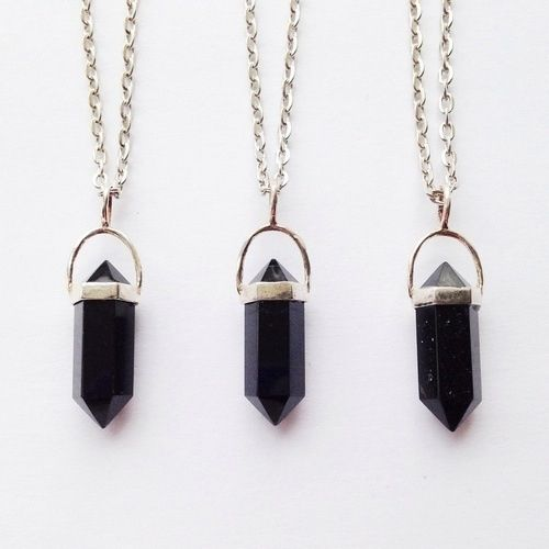 Obsidian pendant supernatural teen witch pinterest aesthetic obsidian pendant tourmaline necklaceblack agatestone necklacecrystal audiocablefo