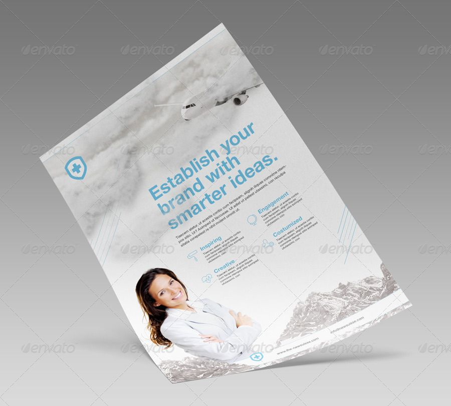Free Indesign Bundle 10 Corporate Flyer Templates: Bundle Corporate Adverts / US Letter / A4 V3 #Adverts