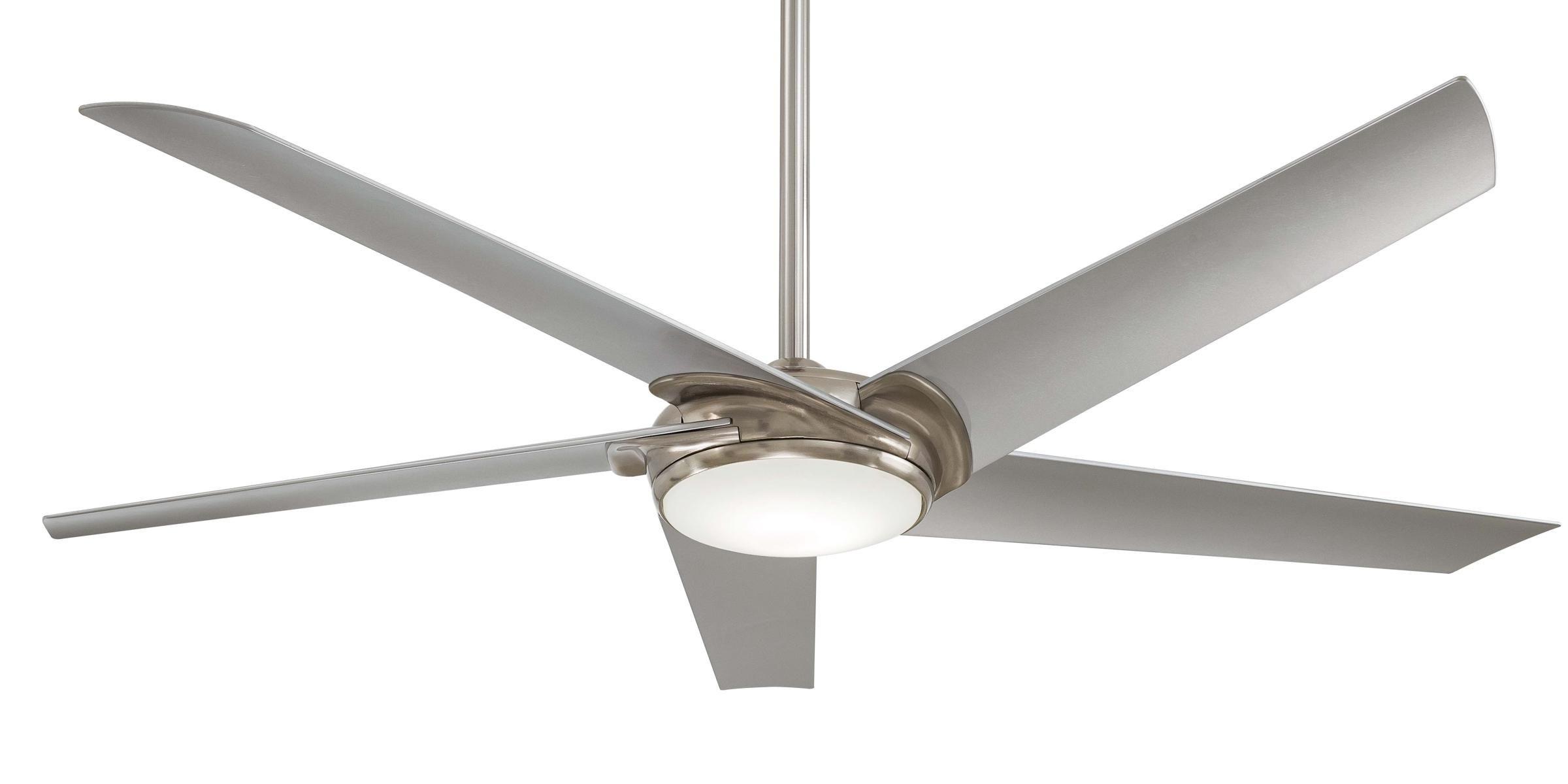 Minka Aire Raptor Ceiling Fan F617 BN in Brushed Nickel Guaranteed