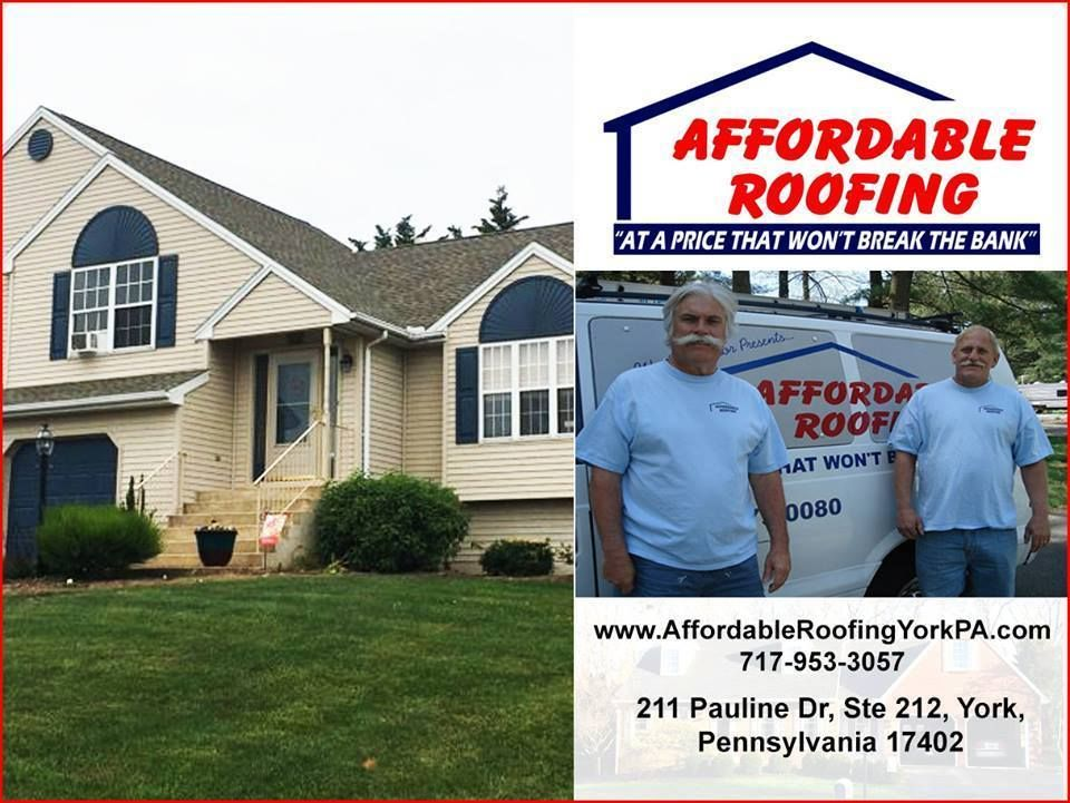 Affordable Roofing Of York Pa Offers Emergency Roof Installation Roof Repair Services For Shingle Or Flat Roo Affordable Roofing Roof Installation Roofing